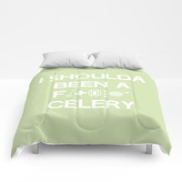 I shoulda been a celery Comforters by Ia Po