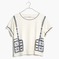 Embroidered Short-Sleeve Tee