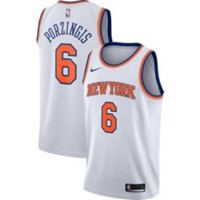 Nike Men's New York Knicks Kristaps Porzingis #6 White Dri-FIT Swingman Jersey | DICK'S Sporting Goods