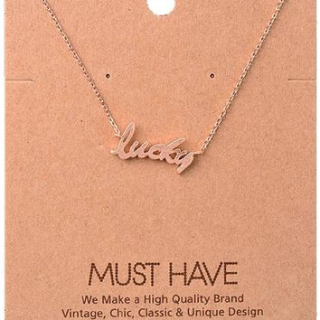 Must Have-Lucky NeckLace, Rose Gold