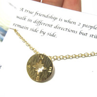Friendship quote gift, Friendship compass necklace, A1, Best friend gift compass necklace, gift for best friend, birthday gift necklace