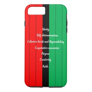 Kwanzaa Principles Red Black Green Stripes Pattern iPhone 8 Plus/7 Plus Case