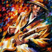 "Stevie Ray Vaughan — Oil Painting On Canvas By Leonid Afremov. Size: 30""x36"""