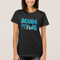 Scuba Diving Diver With Diving Suit And Swim Fins T-Shirt
