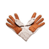 Deerskin Palm Ragg Wool Glove (Grey)