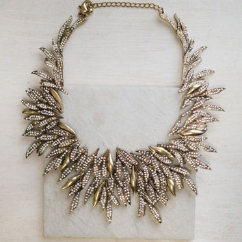 Ice Gold Statement Necklace
