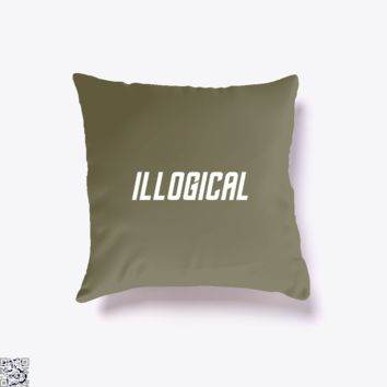 Highly Illogical, Star Wars Throw Pillow Cover