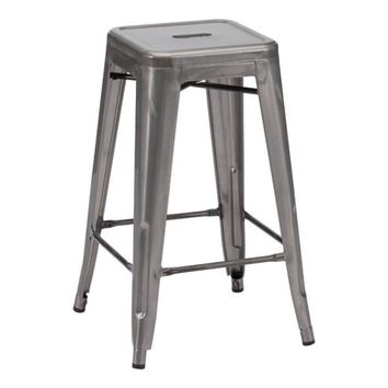 Pair of Marius Counter Stools Gunmetal