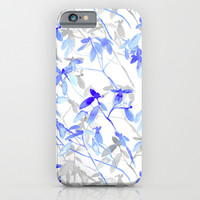 Premonition (Blue Grey) iPhone & iPod Case by Jacqueline Maldonado