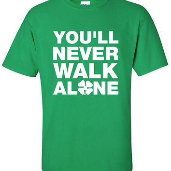 Glasgow Celtic you'll never walk alone football pride scotland graphic united kingdom T-Shirt Tee Shirt Mens Ladies Womens kid soccer ML-103