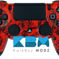 Red Zombies Dualshock 4 PS4 Controller