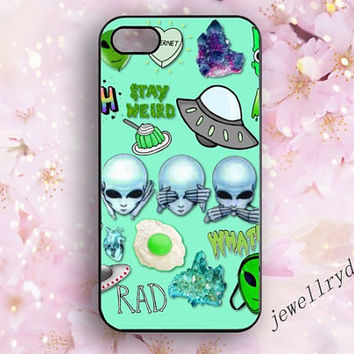 Tie Dye Alien Emoji iPhone 5/5s case,Alien iPhone 4/4s case,Alien Emoji samsung galaxy s3 s4 s5 case,Alien iphone 5c cover,interesting case