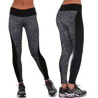 Elastic Waist Workout Leggings, Multiple Colors