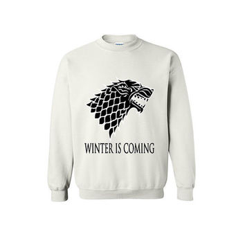 Game of Thrones Winter is Coming House Stark Jon Snow Winterfell Mother of Dragons Direwolf Christmas Gift GOT Shirt GOT Sweater