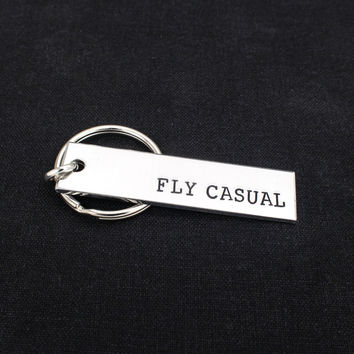 Fly Casual - Star Wars - Han Quotes - Aluminum Key Chain