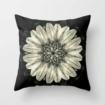 Vintage Floral Art Throw Pillow by Colorful Art