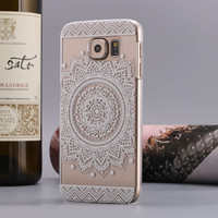 Flower Design Hard Back Phone Case Cover for Samsung Galaxy S6
