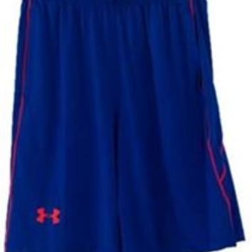 Under Armour UA Raid Shorts for Men in Cobalt Blue and Bolt Orange 1253527-420