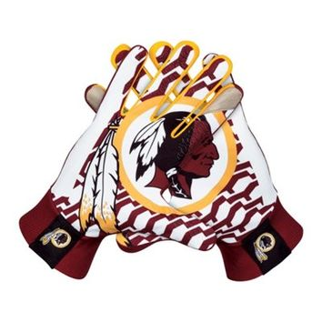 Nike Washington Redskins Stadium Gloves - Burgundy