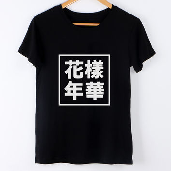 Summer 2017 Kpop Harajuku BTS T shirt Women Tops Graphic Tee Shirt Letter Clothing T-Shirt Female Black Tees tumblr punk rock