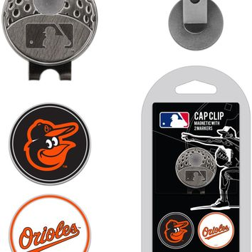 MLB Baltimore Orioles Hat Clip & 2 Magnetic Golf Ball Markers