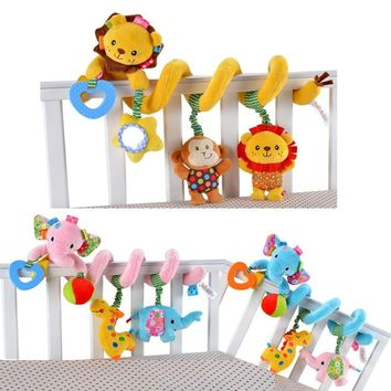 0-24Month Carton Animals Baby Bed Bumper Accessories In The Crib Cot Bed Around For Babays Crib Bed Hanging Toy Stickers Gifts