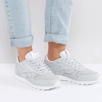 Reebok Classic Leather Texture Sneakers In Gray at asos.com