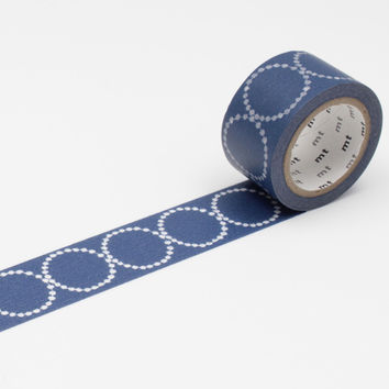 mt x Mina Perhonen Washi Tape Single Tambourine Navy