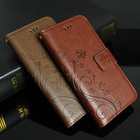 Luxury Retro Flower  Wallet Stand Case for iphone 6 6s 6 plus 5 5s