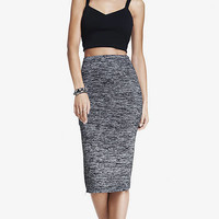 ZIPPER SIDE MIDI PENCIL SKIRT from EXPRESS