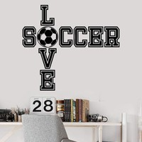 Vinyl Wall Decal Soccer Ball Quote Boy Room Sports Decor Art Stickers Unique Gift (ig3519)