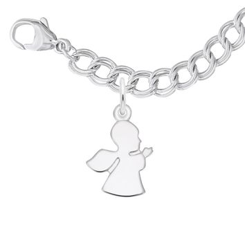 Angel Charm Bracelet Set in Sterling Silver