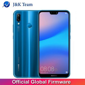 Huawei P20 Lite Global Firmware 4G LTE Mobilephone Face ID 5.84 inch Full View Screen Android 8.0 Glass Body 24MP Front Camera