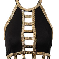 Cut Out Cage Crop Top, Club L