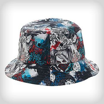 Harley Quinn Arkham Bucket Hat - Spencer's