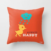 Happy Duck throw pillow - Pillows for kids