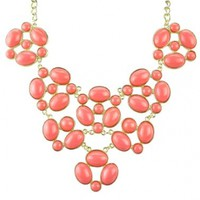 Bib Necklace, Statement Jewelry, Chunky Necklace, Statement Necklace (Fn0579)