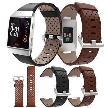 Fitbit Ionic Perforated Leather Accessory Band Bracelet Watchband Fitbit Ionic Smart Fitness