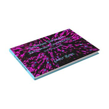 Black Pink Blue Retirement Party Memory/Guest Book