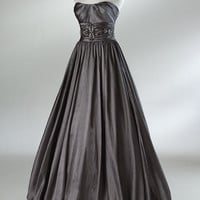2012 Spring Style Ball Gown Ruffles Sleeveless Floor-length Taffeta Prom Dresses / Evening Dresses