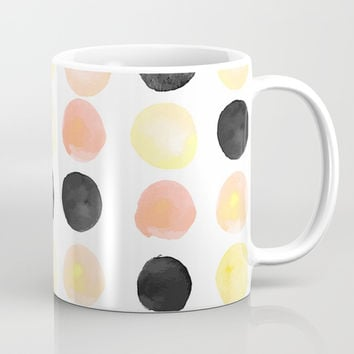 Peach + Coal Dots Mug by cadinera