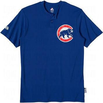 Chicago Cubs (YOUTH LARGE) Cool Base Moisture Management Two-Button MLB Officially Lic