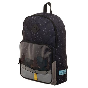 Rick and Morty Navy Blue Spaceship Backpack