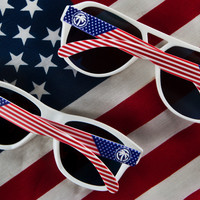 Stars & Stripes Custom sunglasses: Traditional