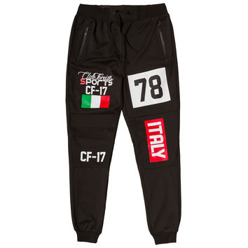 Club Foreign Sports Italy Series Pants Slim Fit Black