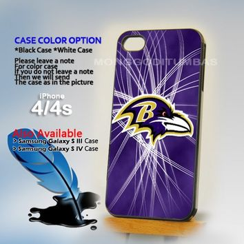 Baltimore Ravens logo, Photo On Hard Plastic iPhone 4 4S Case