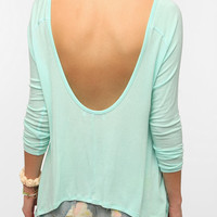 Daydreamer LA 3/4 Sleeve Colorblock Scoop Back Tee