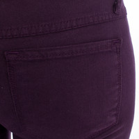 Flying Monkey Purple Skinny Jeans colored denim jeggings dark purple plum indigo Flying Monkey Color Jeans Flying Monkey Brand from For Elyse