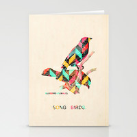 Song Birds Stationery Cards by Maximilian San