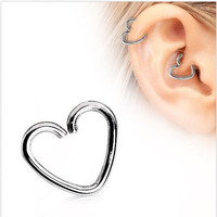 Surgical Steel Heart Shaped Cartilage Earring